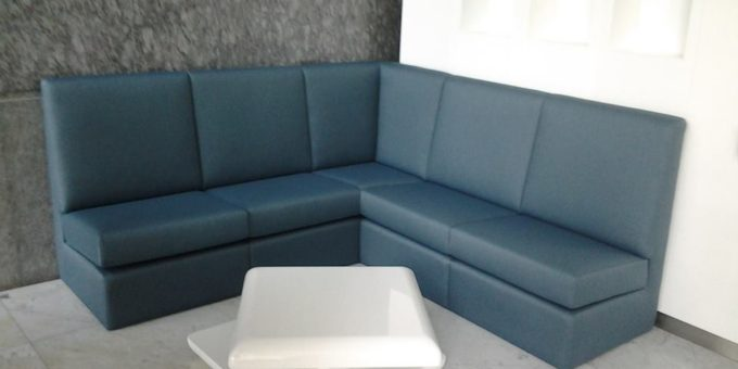 L Shaped banquette sofa