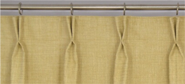 Curtain pinch pleat