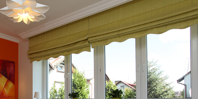 Roman Blind with valance