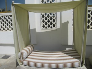 Hotel Daybed Canopy and Cushion